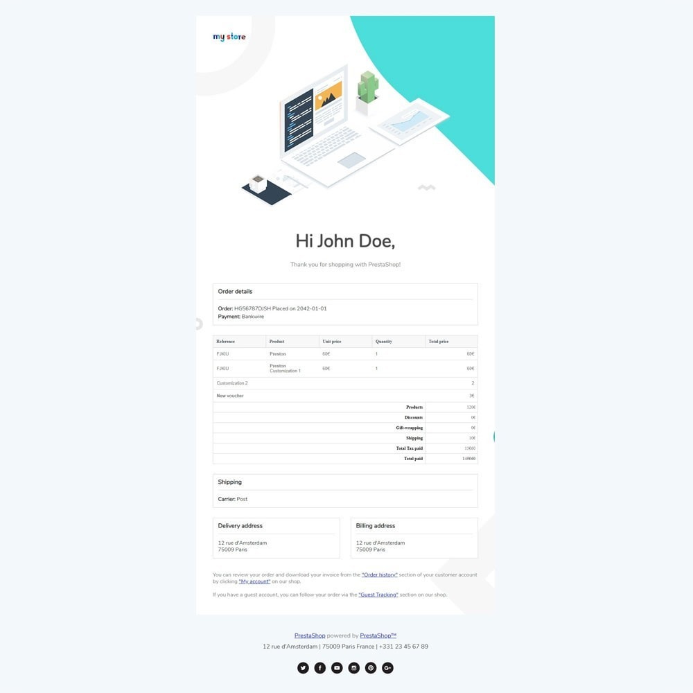 email - PrestaShop email templates - Concac - Responsive Email Template - 5