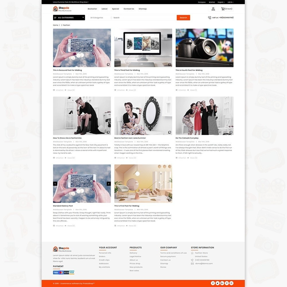 theme - Electronique & High Tech - shopzia - The MultiStore Theme - 7