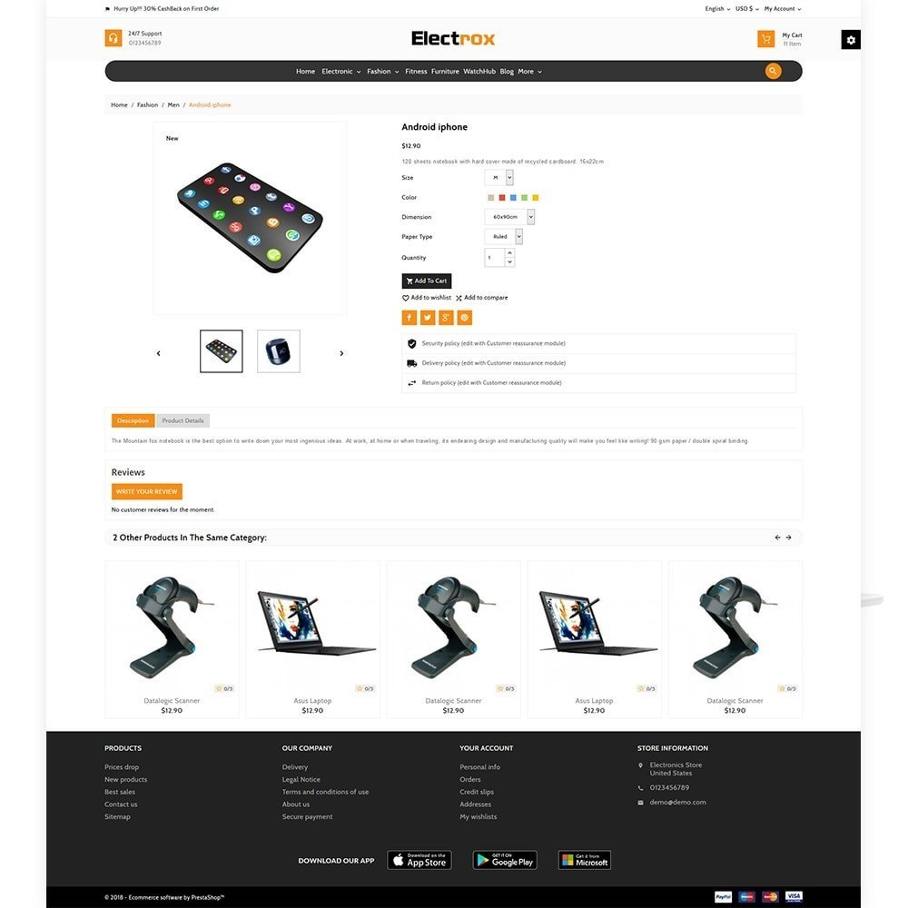 theme - Elektronika & High Tech - Electrox Electronic Multi Store Responsive - 5