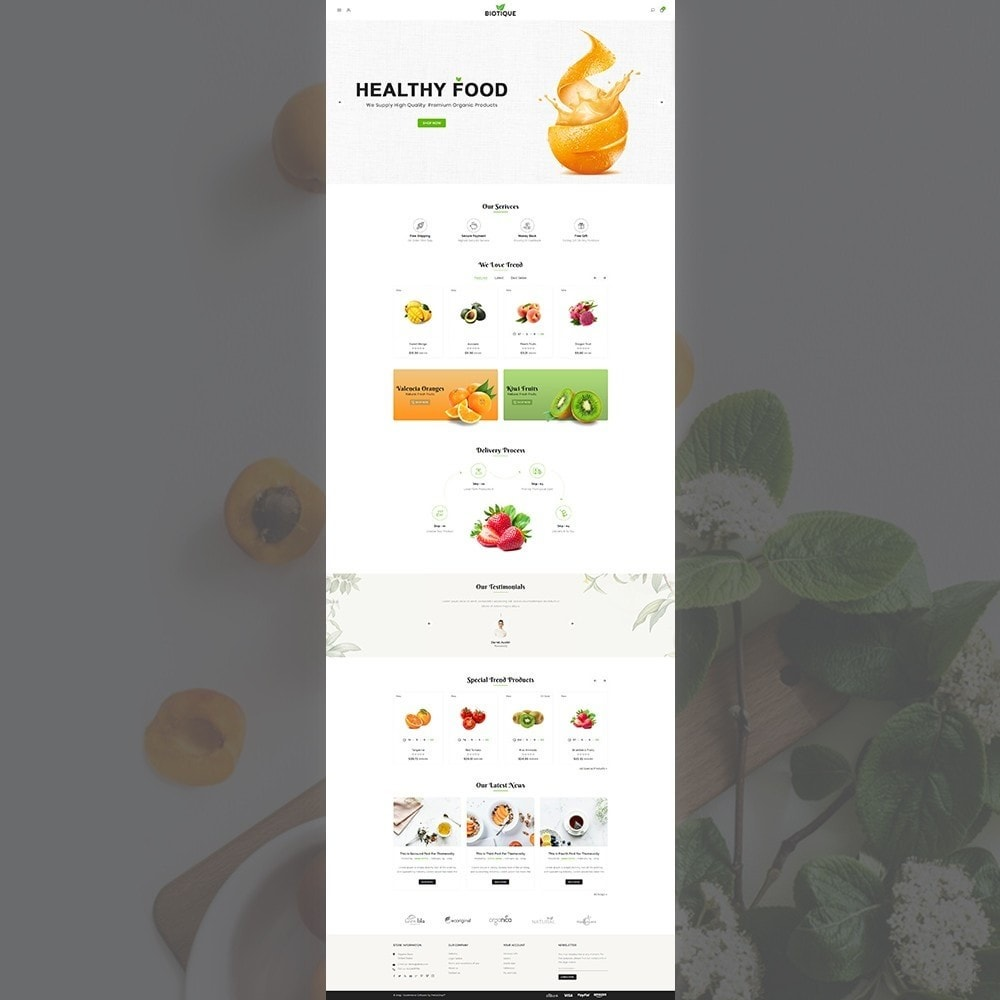 theme - Food & Restaurant - Biotique Organic–Grocery Food–Drink Multistore Store - 2
