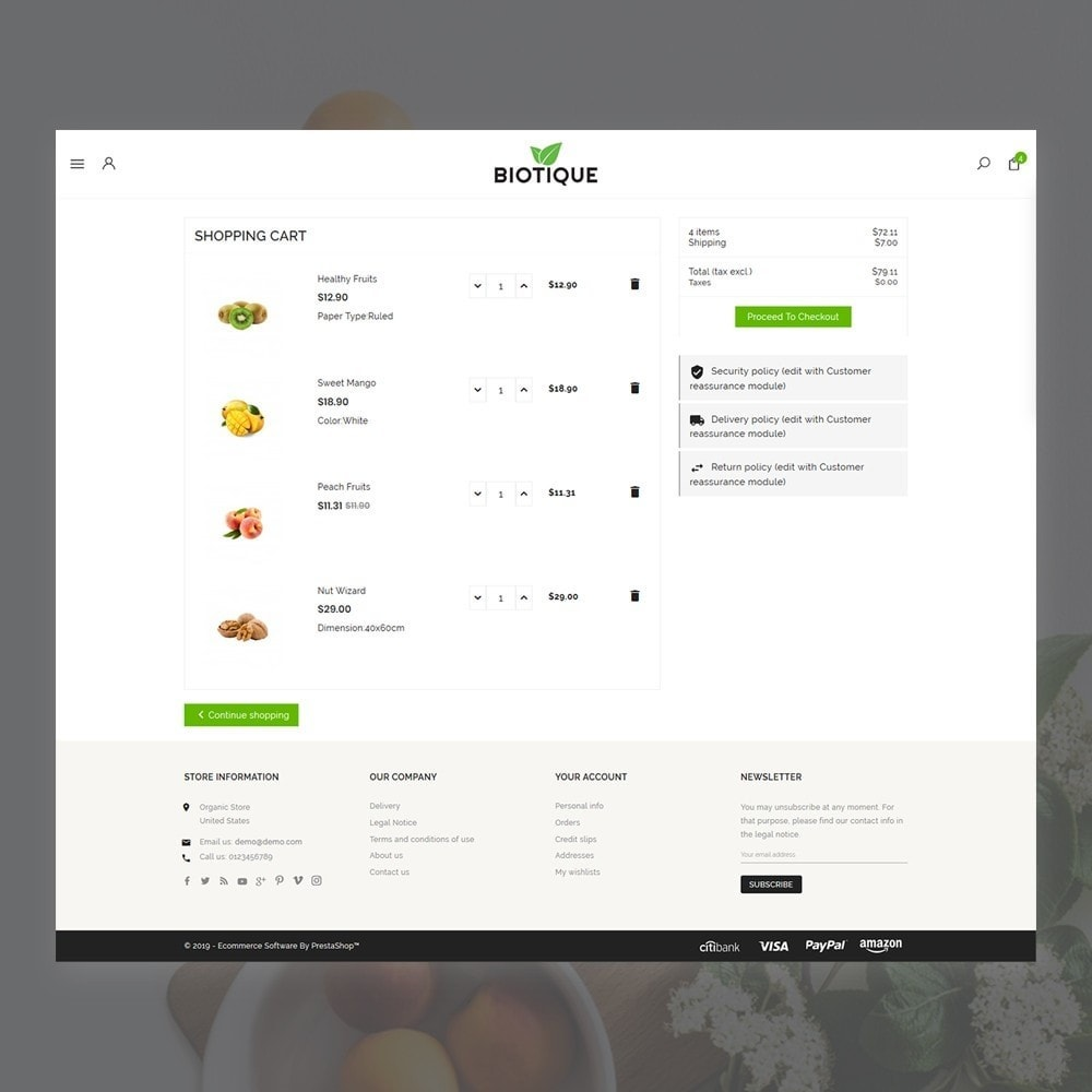 theme - Food & Restaurant - Biotique Organic–Grocery Food–Drink Multistore Store - 5