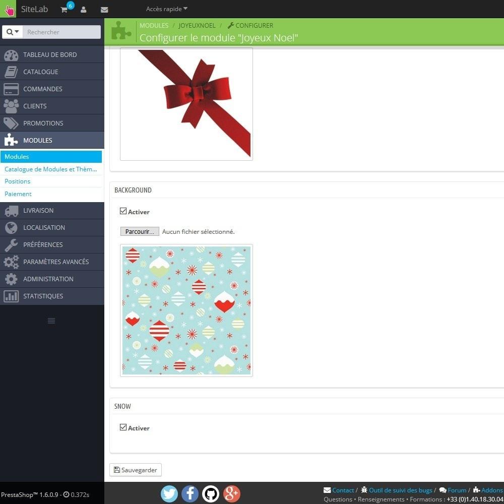 module - Personnalisation de Page - Joyeux Noel - 3