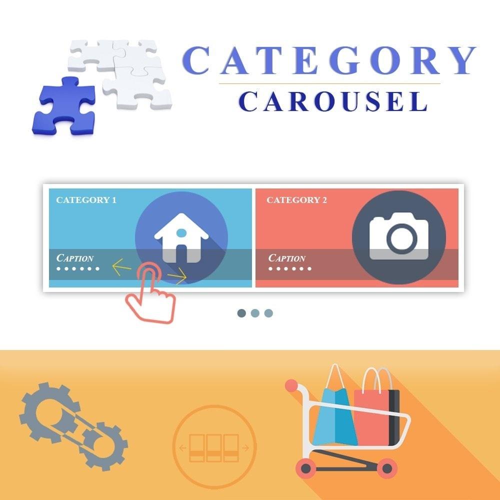 module - Слайдеров (карусельных) и галерей - Адаптивная карусель категорий - 1