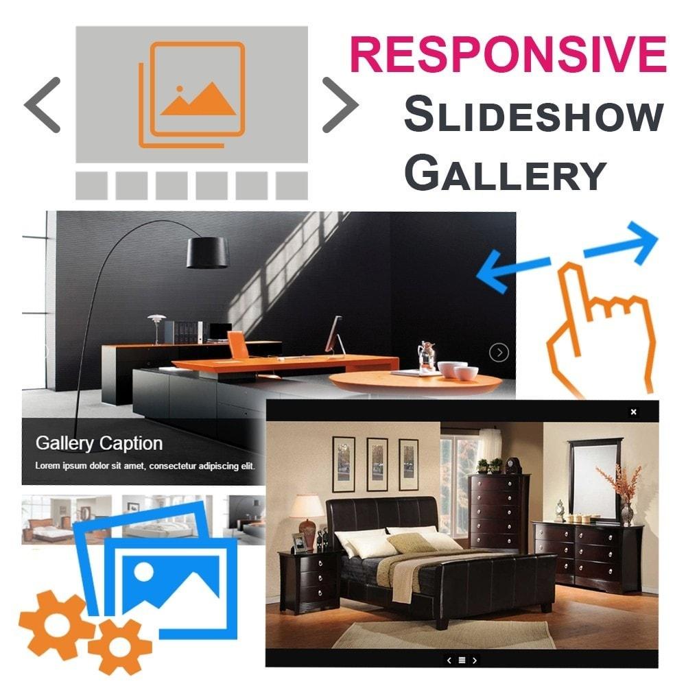 module - Слайдеров (карусельных) и галерей - Адаптивная Слайд-шоу фото-галерея - 1
