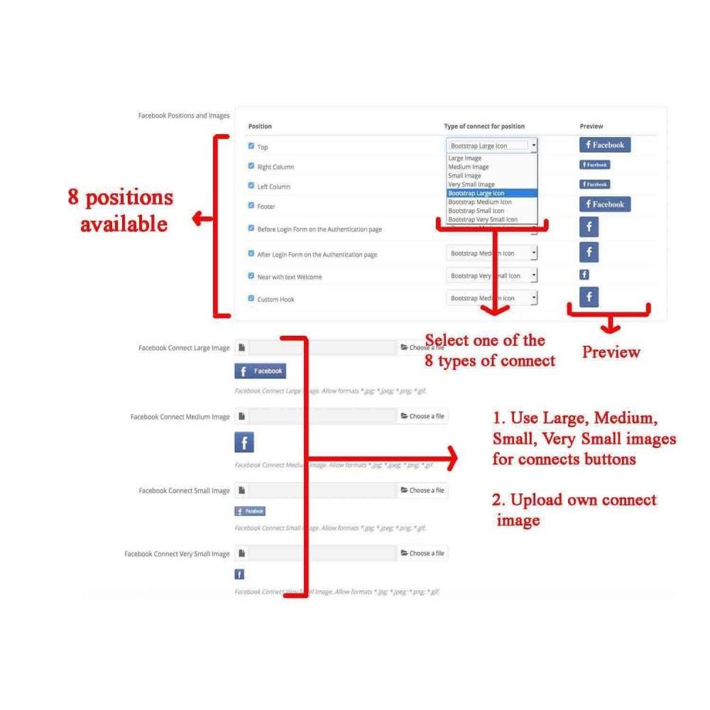 module - Boutons Login & Connect - Social Pack: Connexions, Parrainages, Plugins (34 en 1) - 11