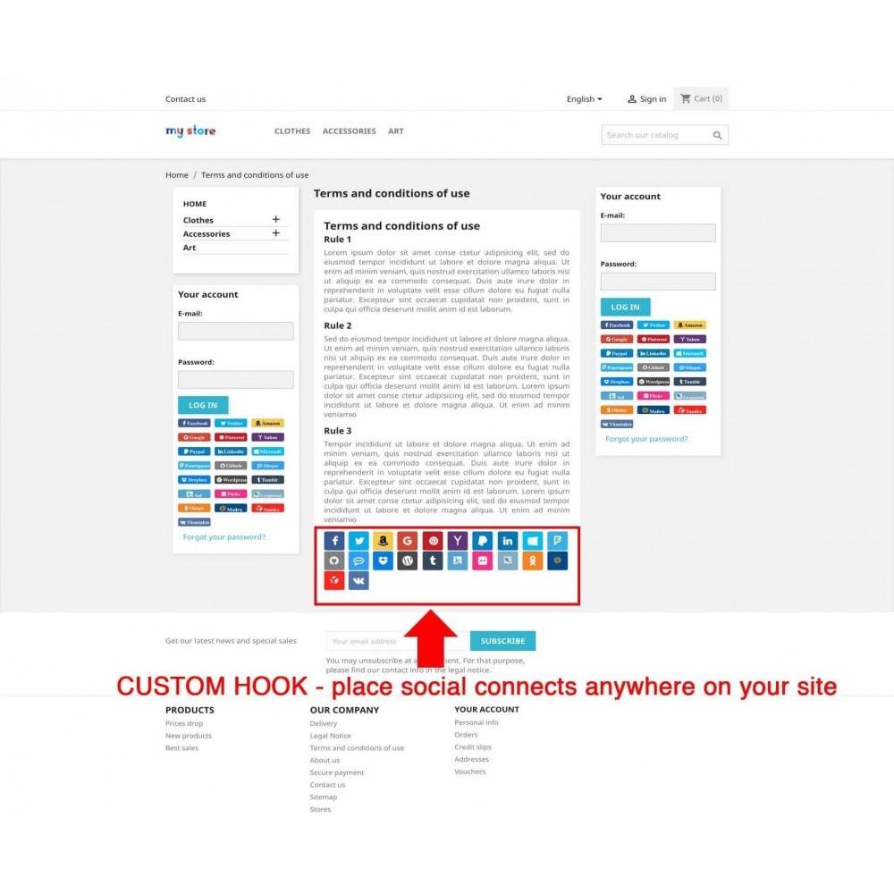 module - Boutons Login & Connect - Social Pack: Connexions, Parrainages, Plugins (34 en 1) - 13