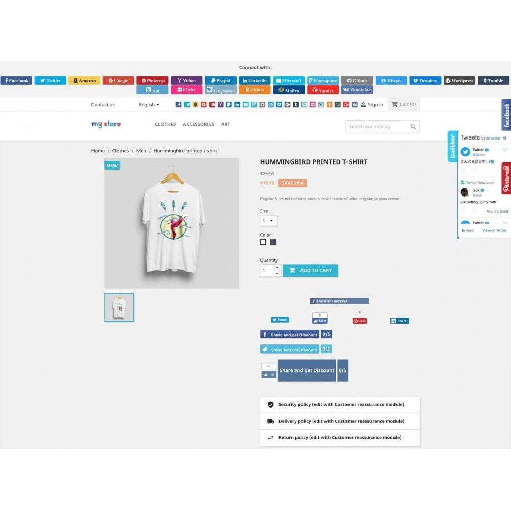 module - Boutons Login & Connect - Social Pack: Connexions, Parrainages, Plugins (34 en 1) - 18