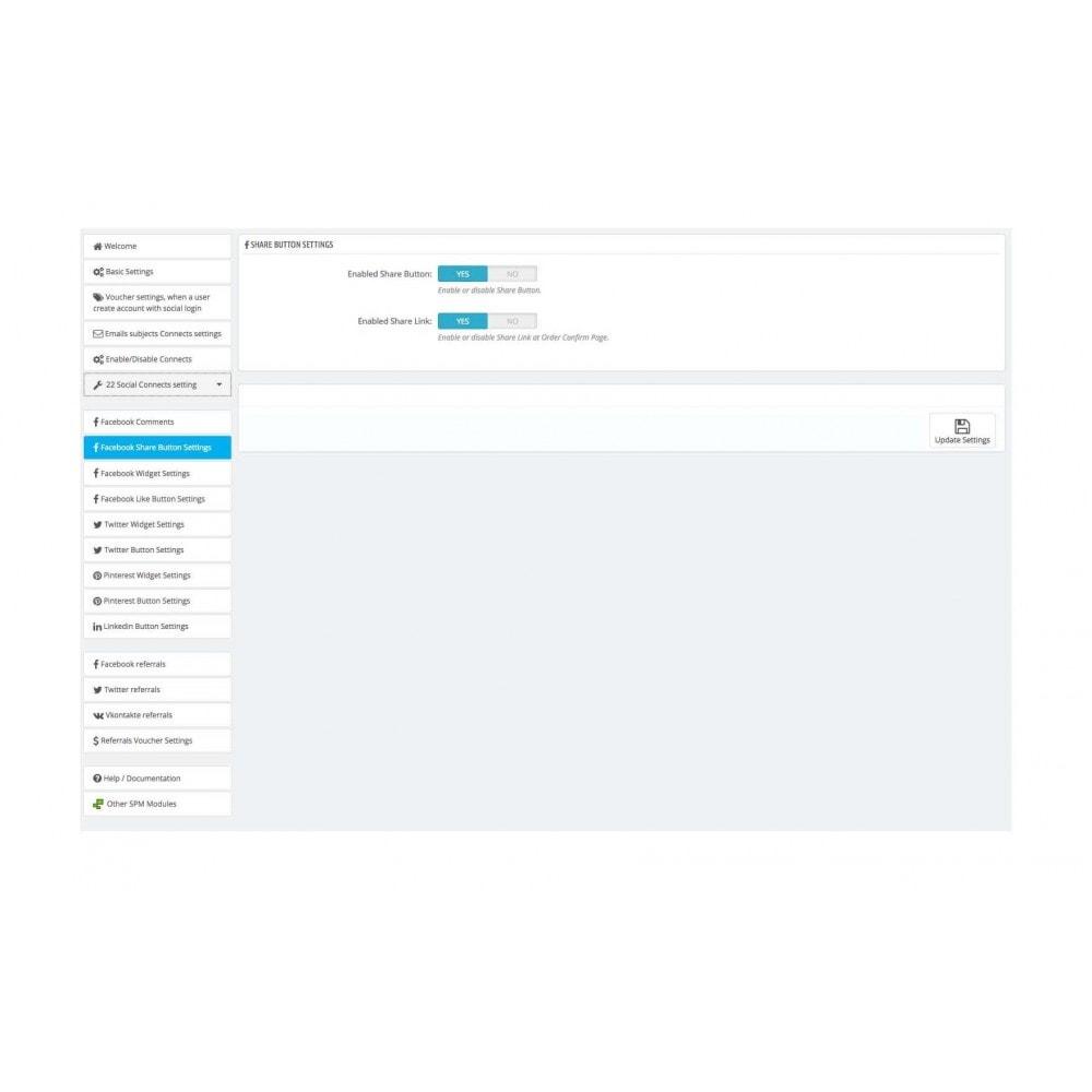 module - Boutons Login & Connect - Social Pack: Connexions, Parrainages, Plugins (34 en 1) - 39