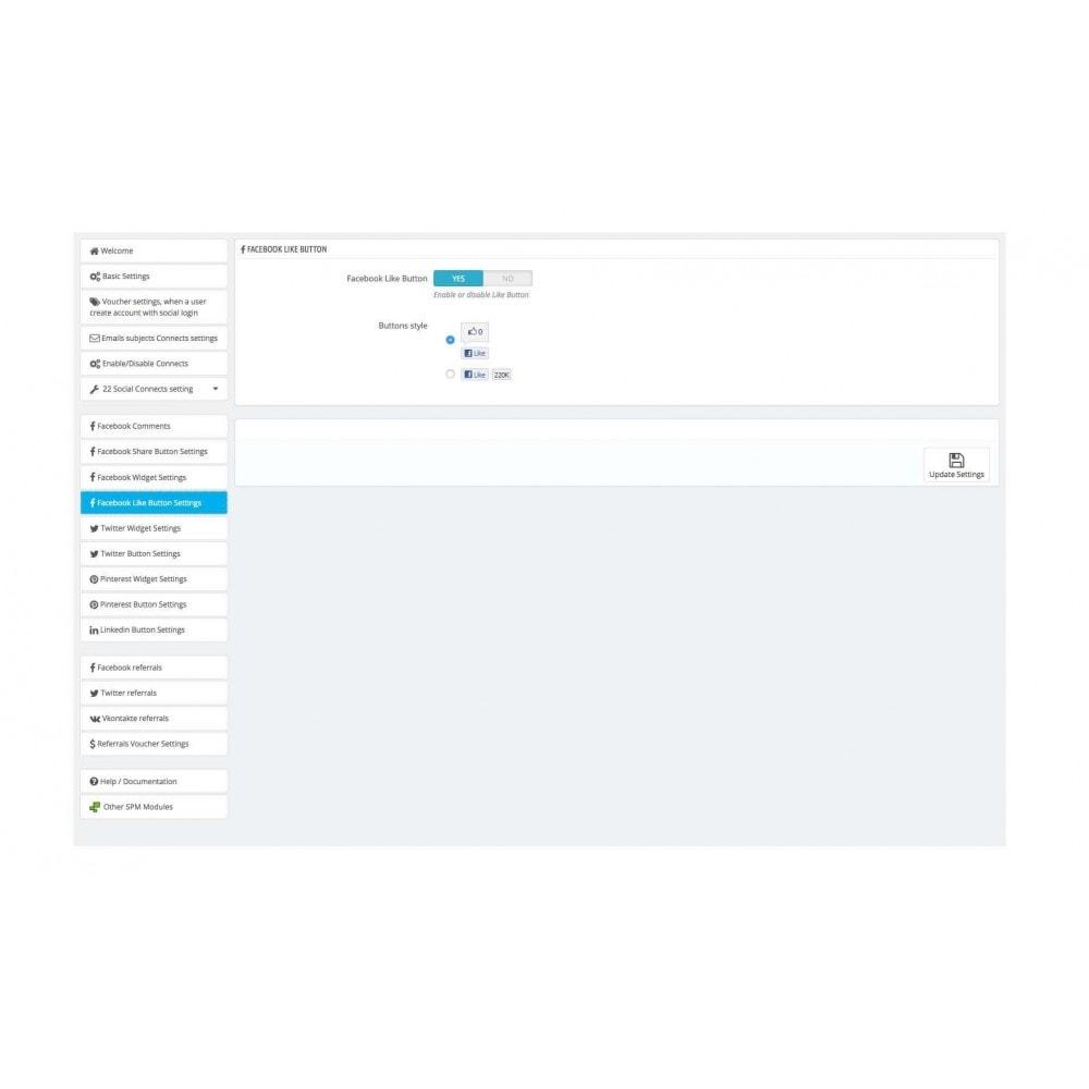 module - Boutons Login & Connect - Social Pack: Connexions, Parrainages, Plugins (34 en 1) - 41