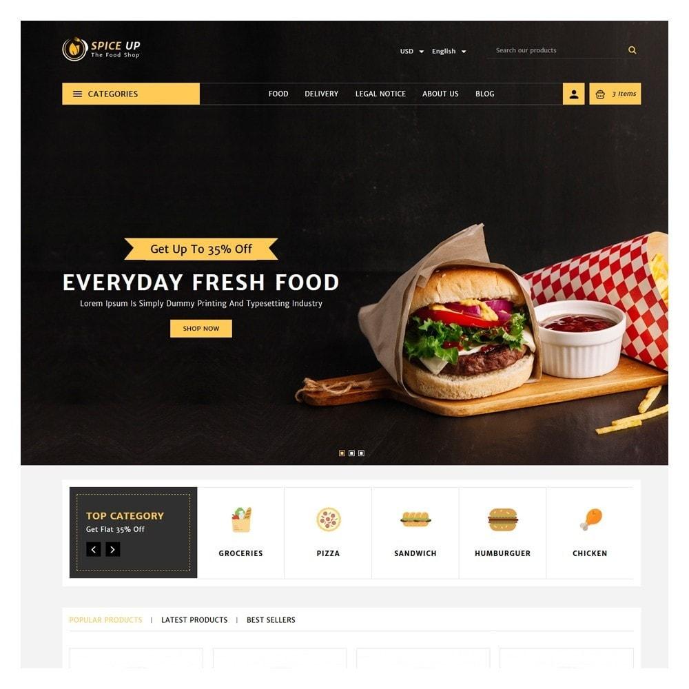 theme - Żywność & Restauracje - Spiceup - Food Club - 2