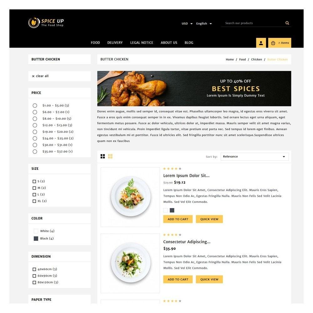 theme - Żywność & Restauracje - Spiceup - Food Club - 4