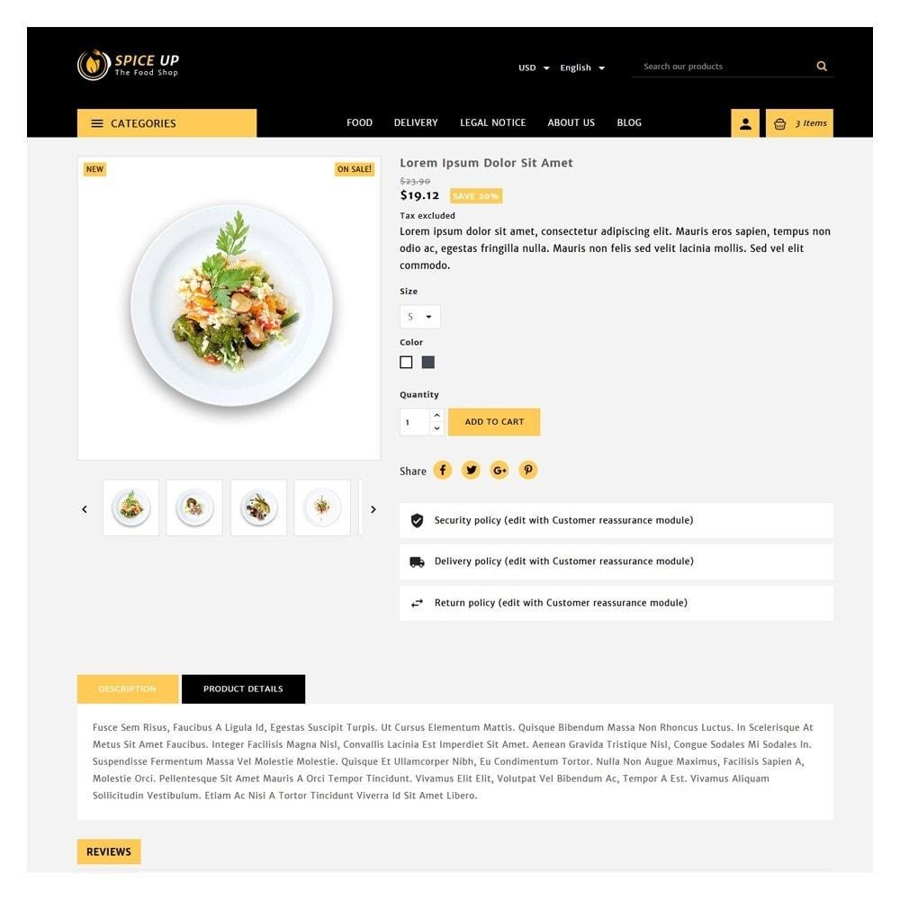 theme - Żywność & Restauracje - Spiceup - Food Club - 5