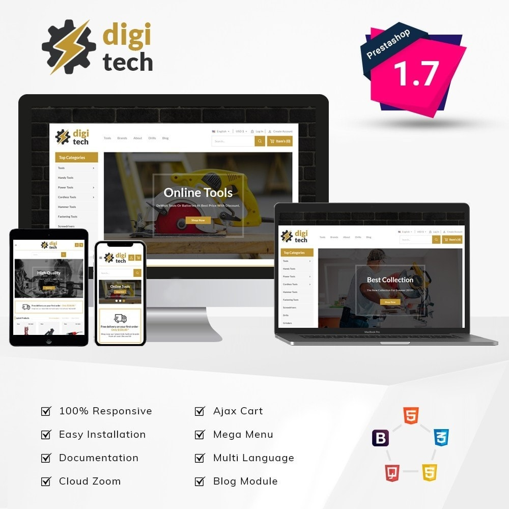 theme - Automotive & Cars - DIgitech Tools Store - 1