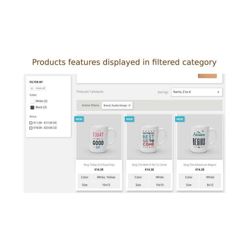 module - Zusatzinformationen & Produkt-Tabs - Anzeige der Produkteigenschaft in Produktliste - 5