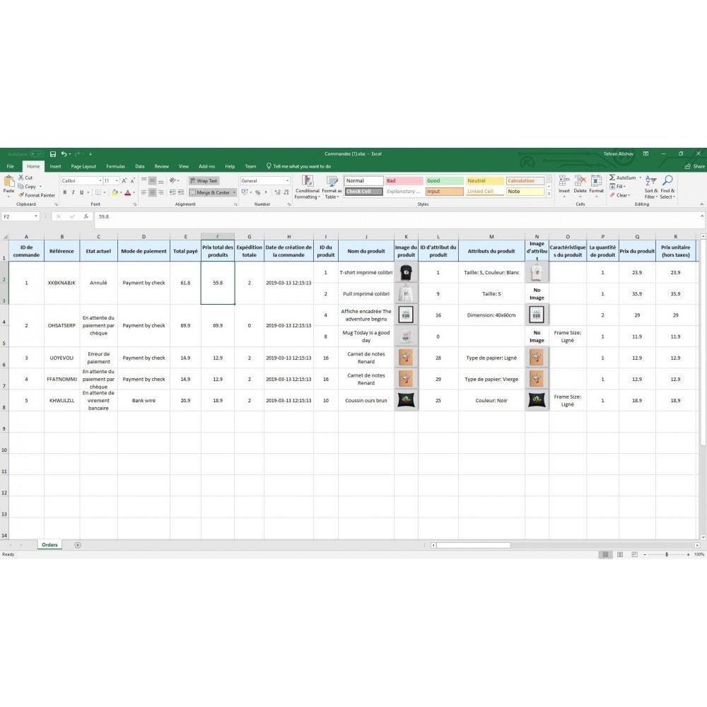 module - Import & Export de données - Exportation de Commandes Pro (Excel,CSV,PDF,Email,FTP) - 9