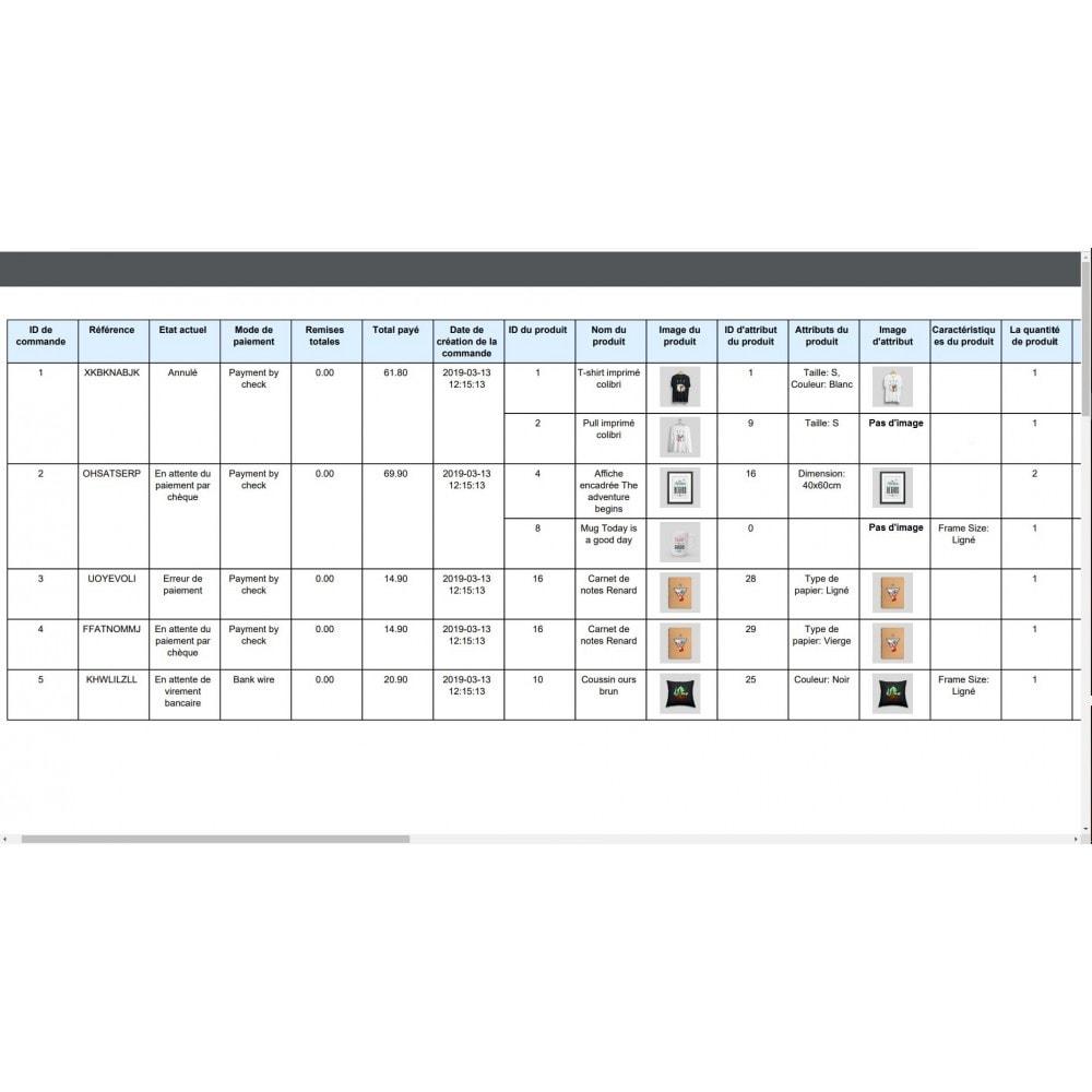 module - Import & Export de données - Exportation de Commandes Pro (Excel,CSV,PDF,Email,FTP) - 11