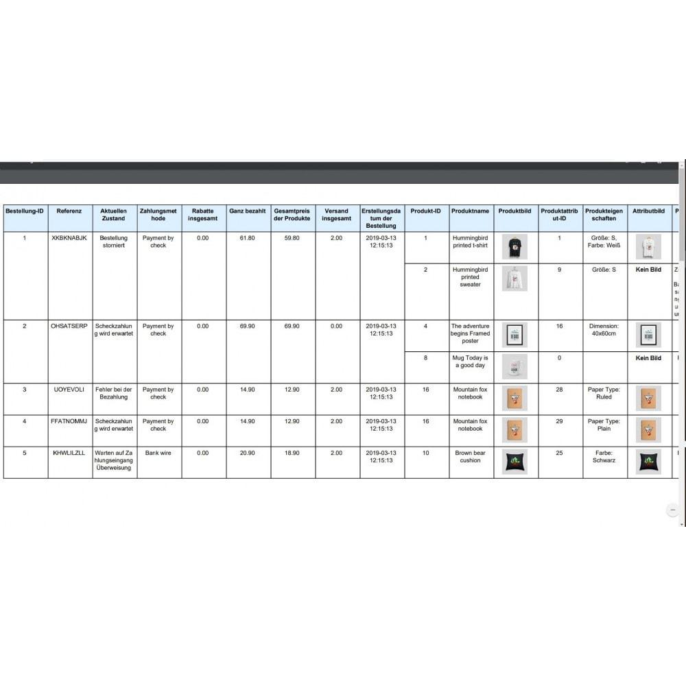 module - Daten Im-&Export - Bestellungen Export Pro (Excel, CSV, PDF, Email, FTP) - 10