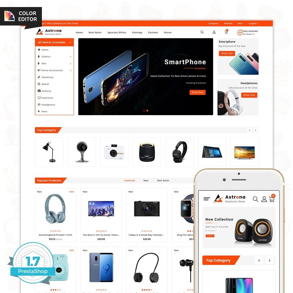 theme - Electronique & High Tech - Astrona - The Electronics Store - 1