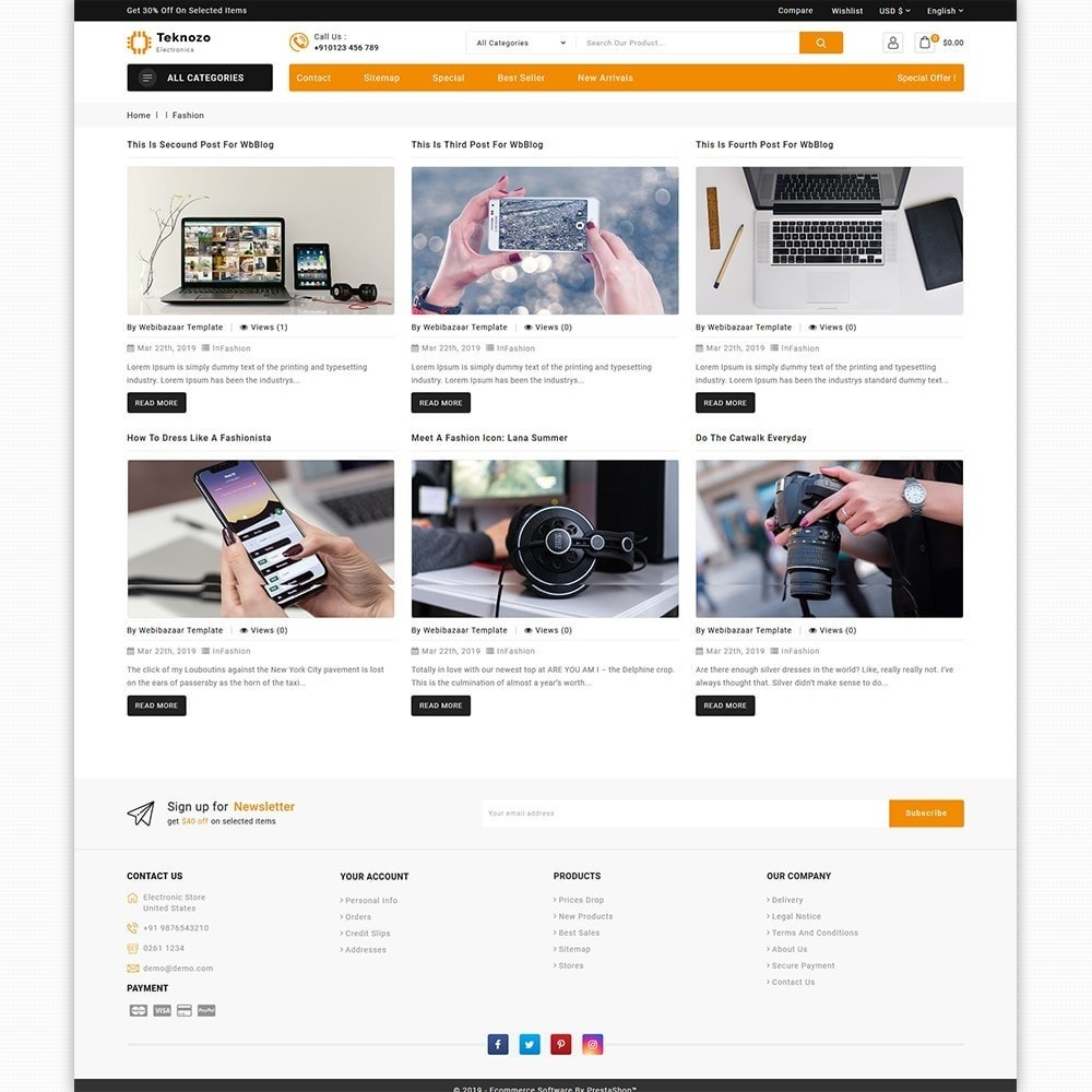 theme - Electronics & Computers - Teknozo - The Electronics Store - 6