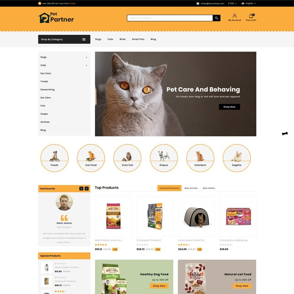 theme - Animali - Pets Partner Store - 2