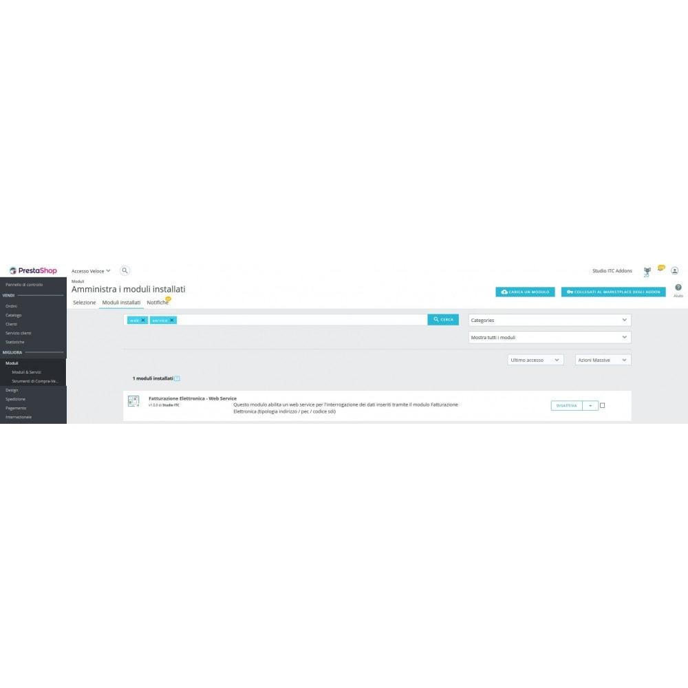 module - Pagamento con Fattura - ITC Fatturazione Elettronica – Web Service - 3