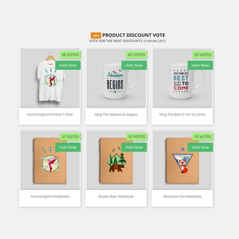 module - Promoções & Brindes - Discount Vote - 1