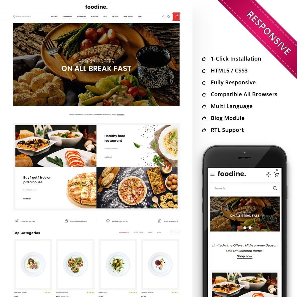 theme - Food & Restaurant - Foodline - The Food Restaurant - 1