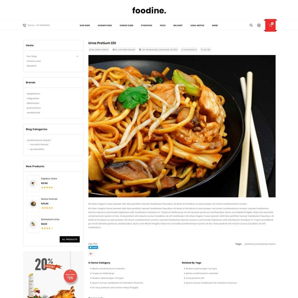 theme - Продовольствие и рестораны - Foodline - The Food Restaurant - 7