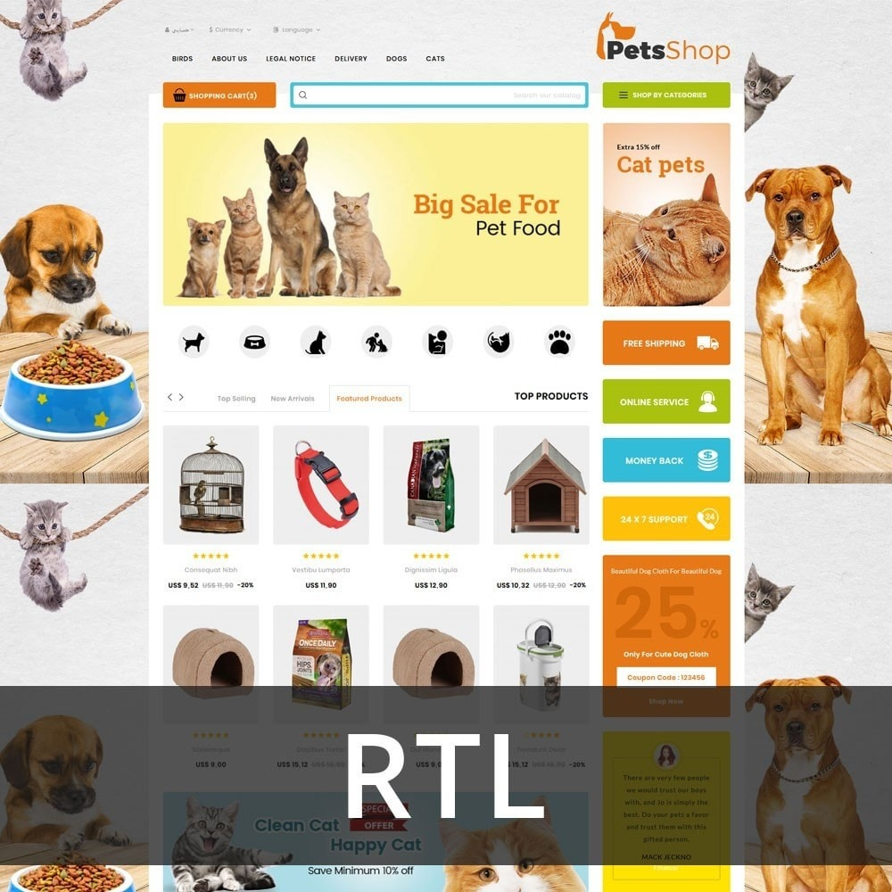 theme - Animals & Pets - Petsshop - The Animal Store - 3
