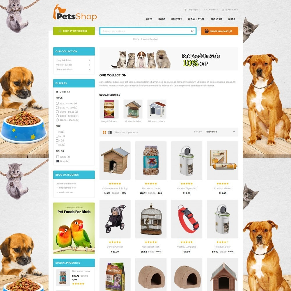 theme - Animals & Pets - Petsshop - The Animal Store - 5