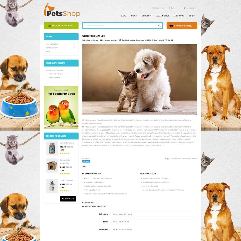theme - Animals & Pets - Petsshop - The Animal Store - 7