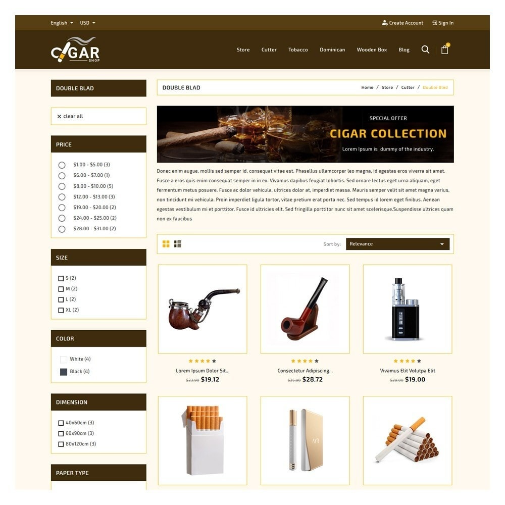 theme - Drank & Tabak - Cigar Drink & Tobacco - 3