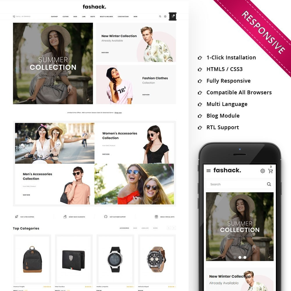 theme - Moda & Obuwie - Fashack - The Fashion Shop - 1