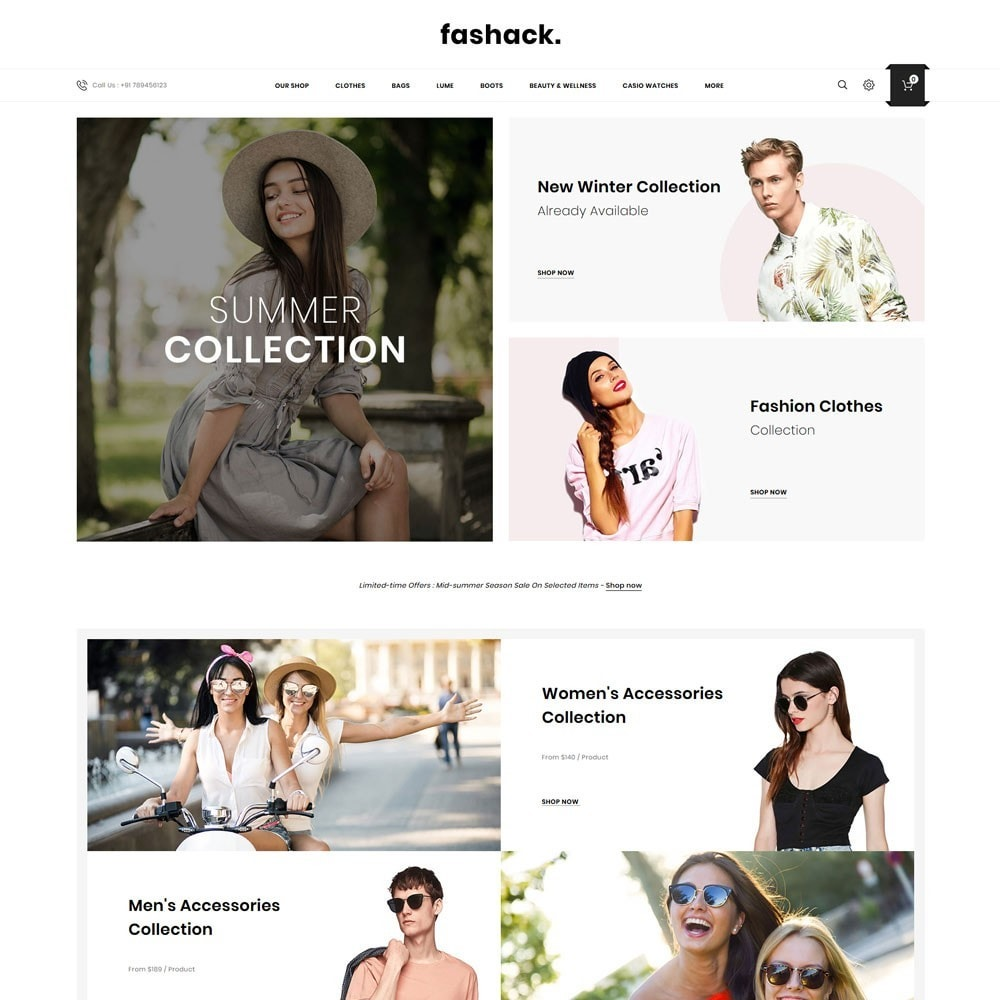 theme - Moda & Obuwie - Fashack - The Fashion Shop - 2