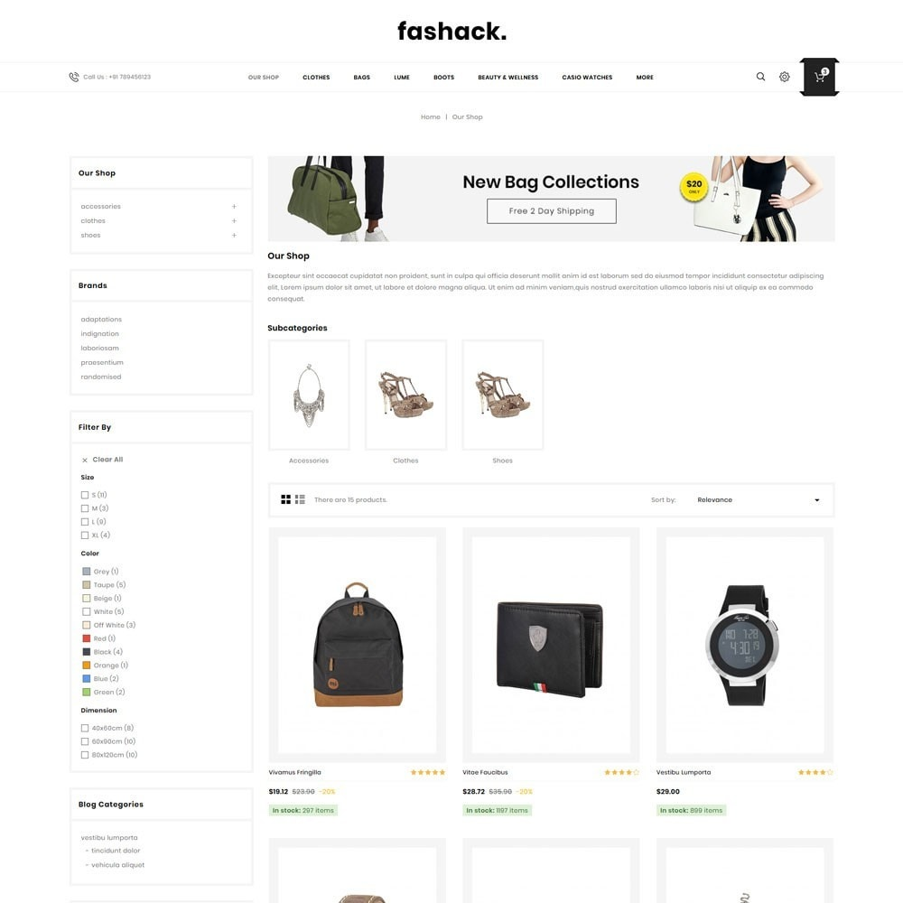 theme - Moda & Obuwie - Fashack - The Fashion Shop - 4