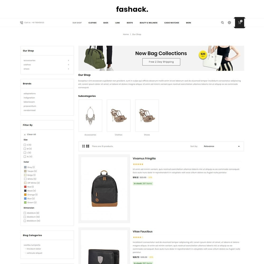 theme - Moda & Obuwie - Fashack - The Fashion Shop - 5