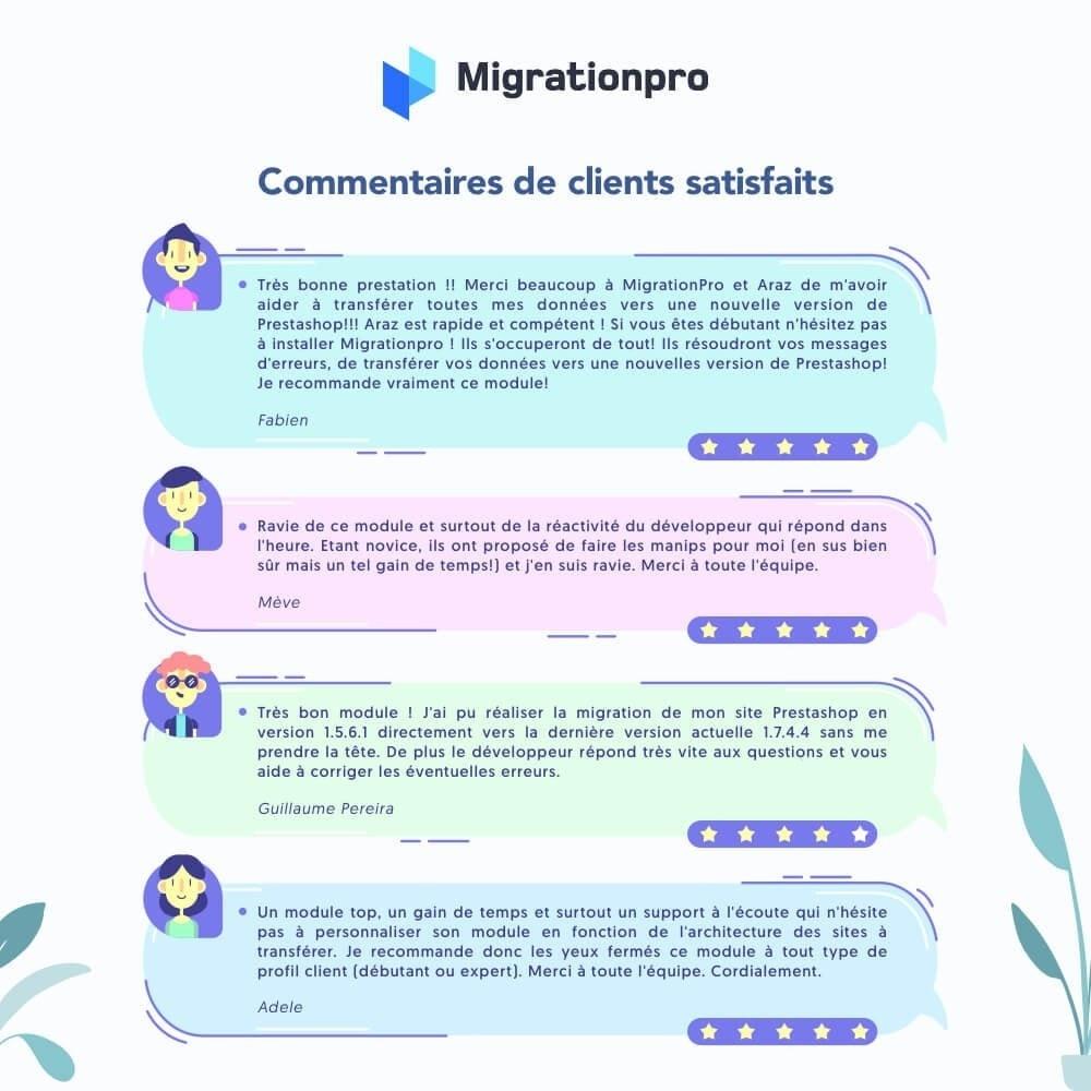 module - Migration de Données & Sauvegarde - Outil de migration PrestaShop - 9