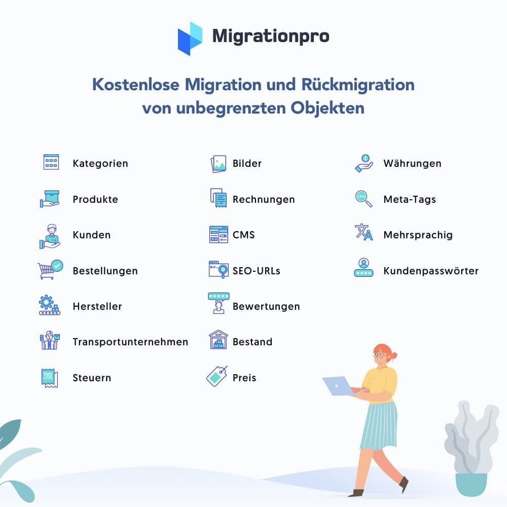 module - Datenmigration & Backup - MigrationPro: Prestashop Upgrade und Migrationstool - 2