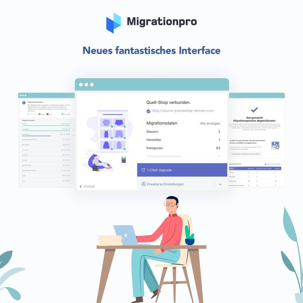 module - Datenmigration & Backup - MigrationPro: Prestashop Upgrade und Migrationstool - 6