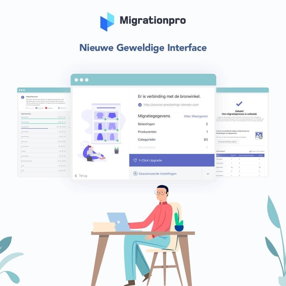 module - Migratie & Backup - MigrationPro: upgrade- en Migratietool voor Prestashop - 6