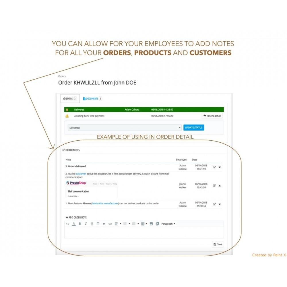 module - Iscrizione e Processo di ordinazione - Note avanzate per ordini, prodotti e clienti - 1