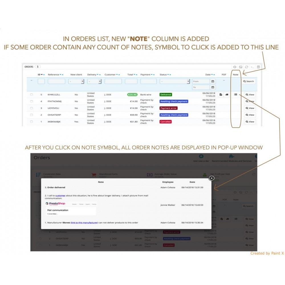 module - Iscrizione e Processo di ordinazione - Note avanzate per ordini, prodotti e clienti - 3