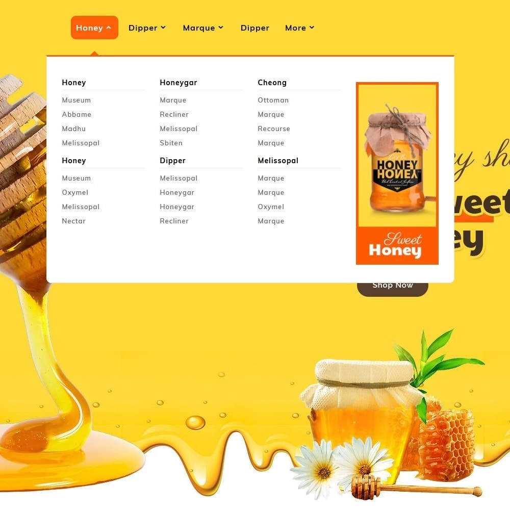 theme - Health & Beauty - Honey Bee - Agro Bee & Sweet Shop - 9