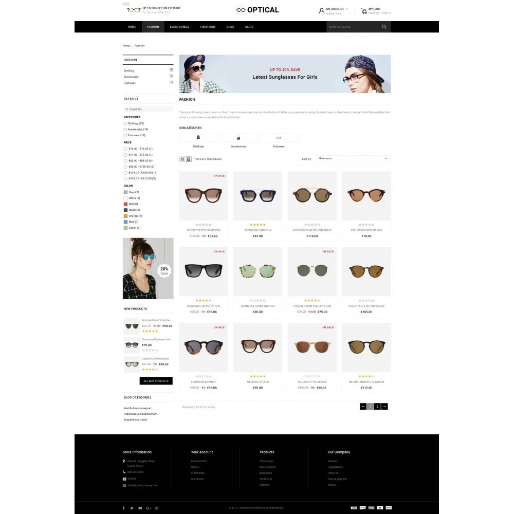 theme - Ювелирные изделия и Аксессуары - Optical - Goggles Store - 3