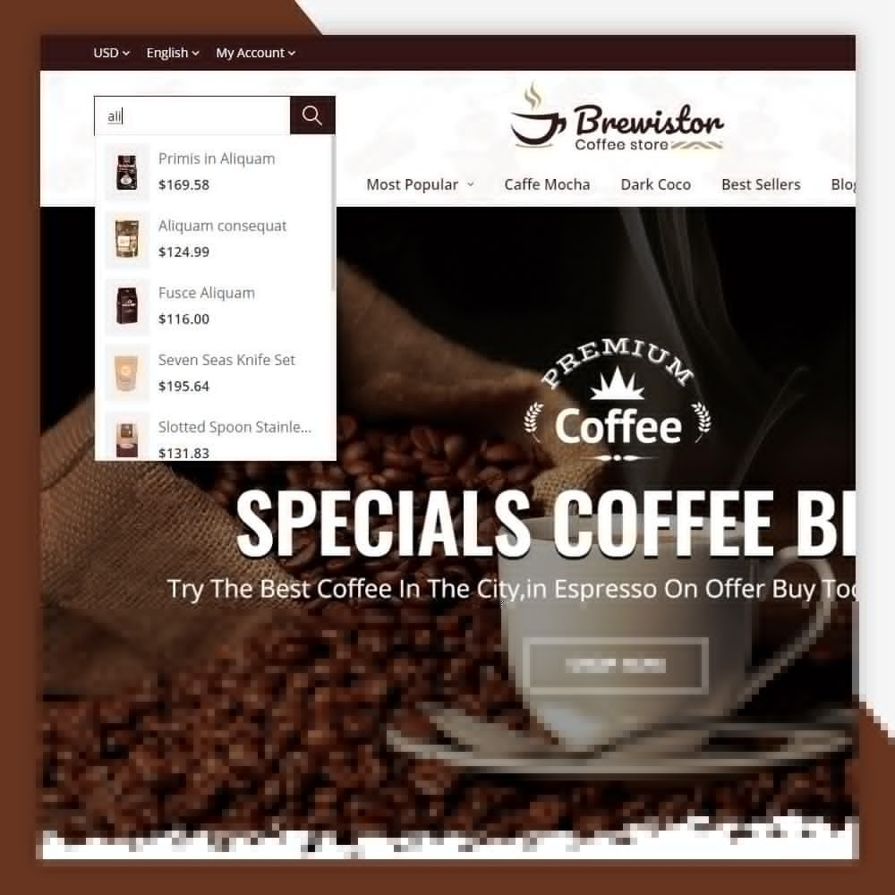 theme - Alimentos & Restaurantes - Brewistor - Coffee Store - 3