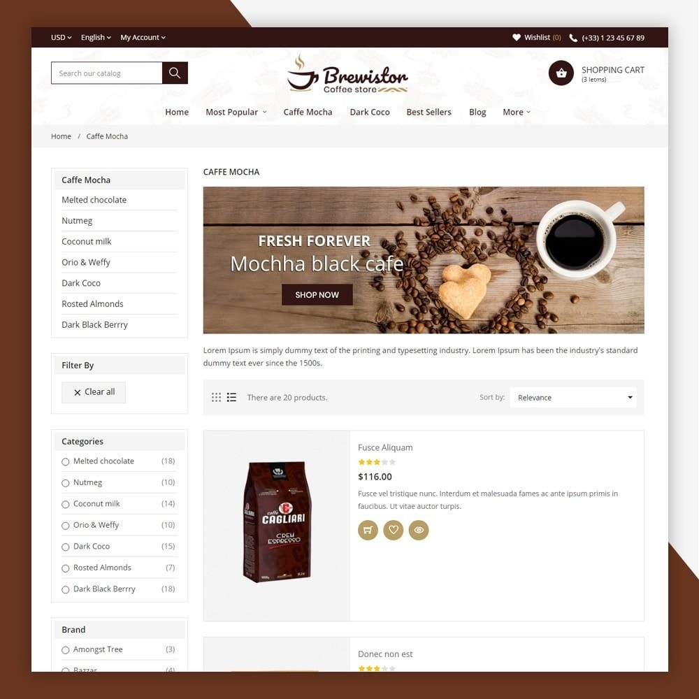 theme - Alimentos & Restaurantes - Brewistor - Coffee Store - 6