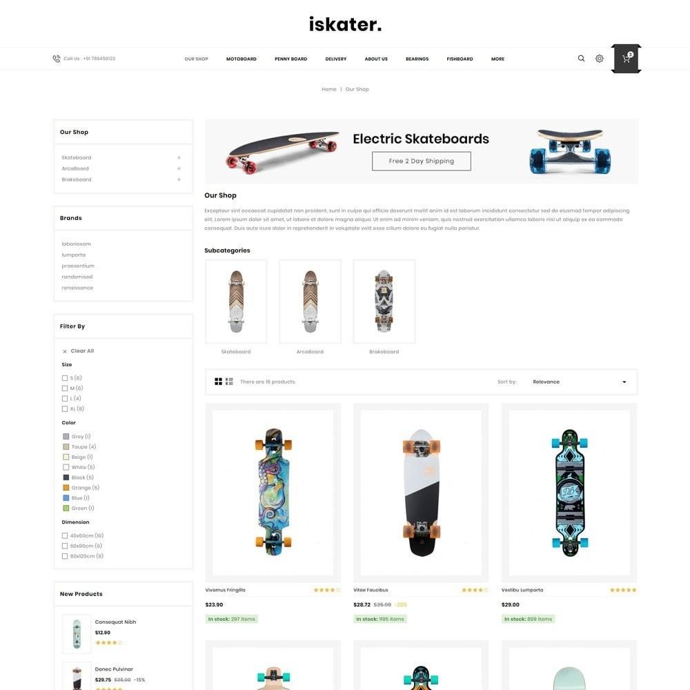 theme - Sports, Activities & Travel - Iskater - The Sport Shop - 4