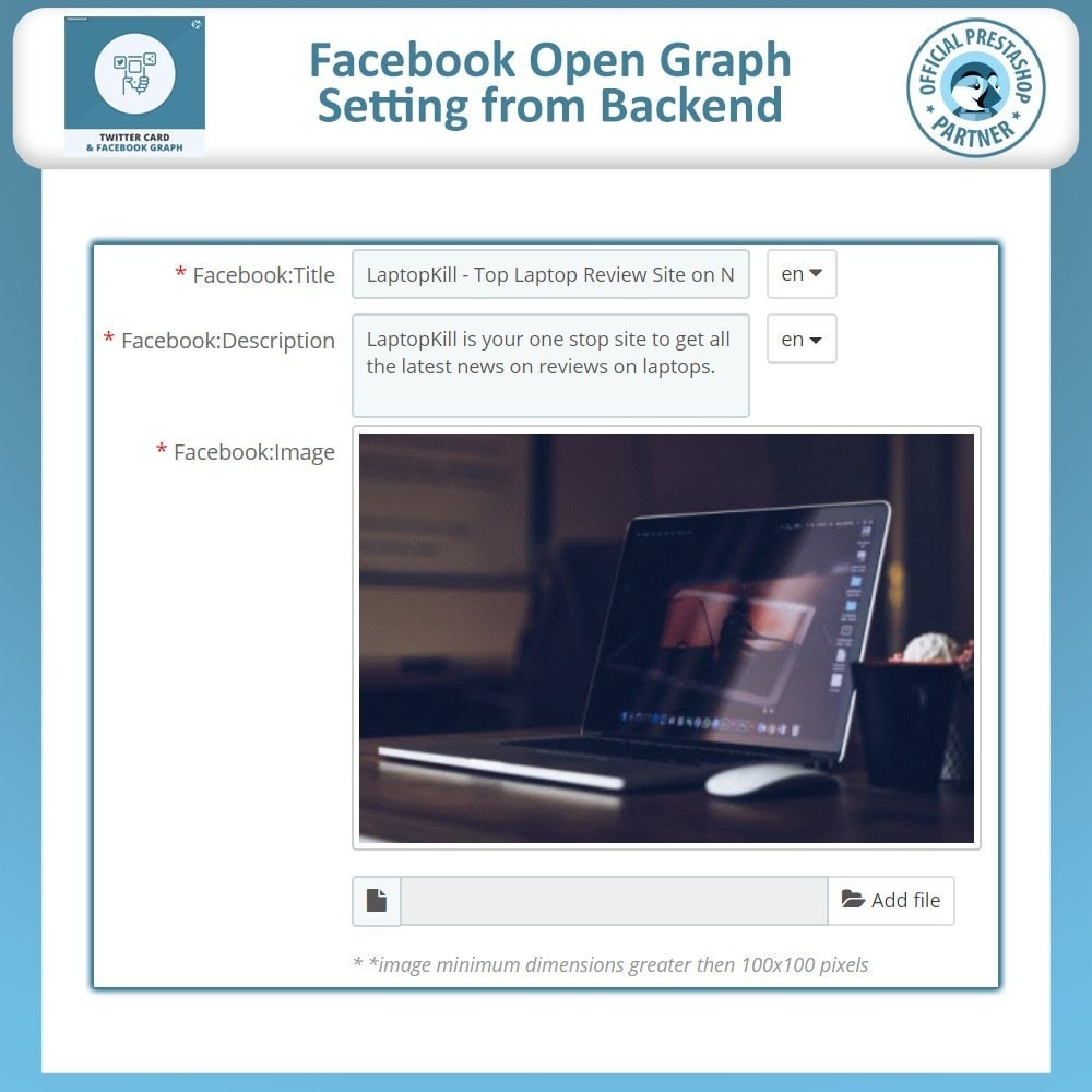 module - Widgets para redes sociales - Twitter Card and Facebook Graph - 5