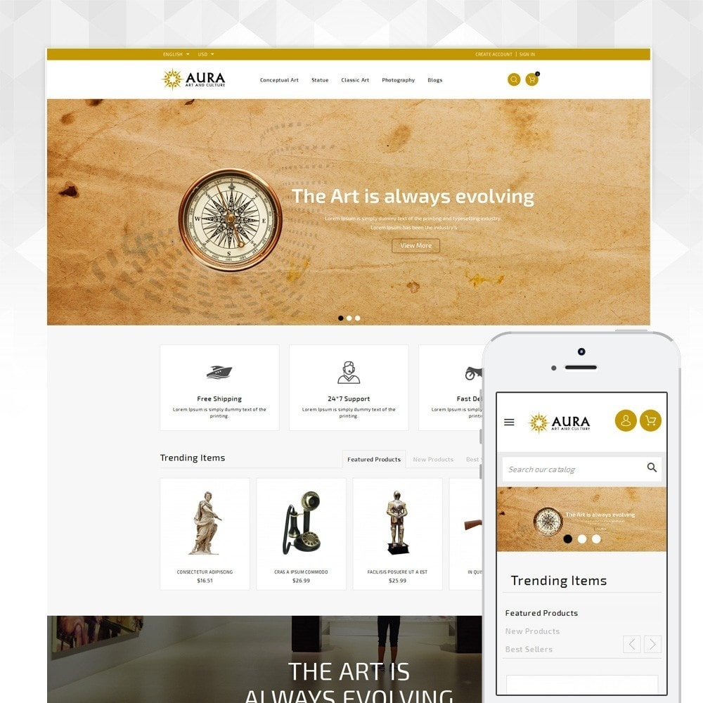 theme - Arte y Cultura - Aura - Art & Culture Store - 1