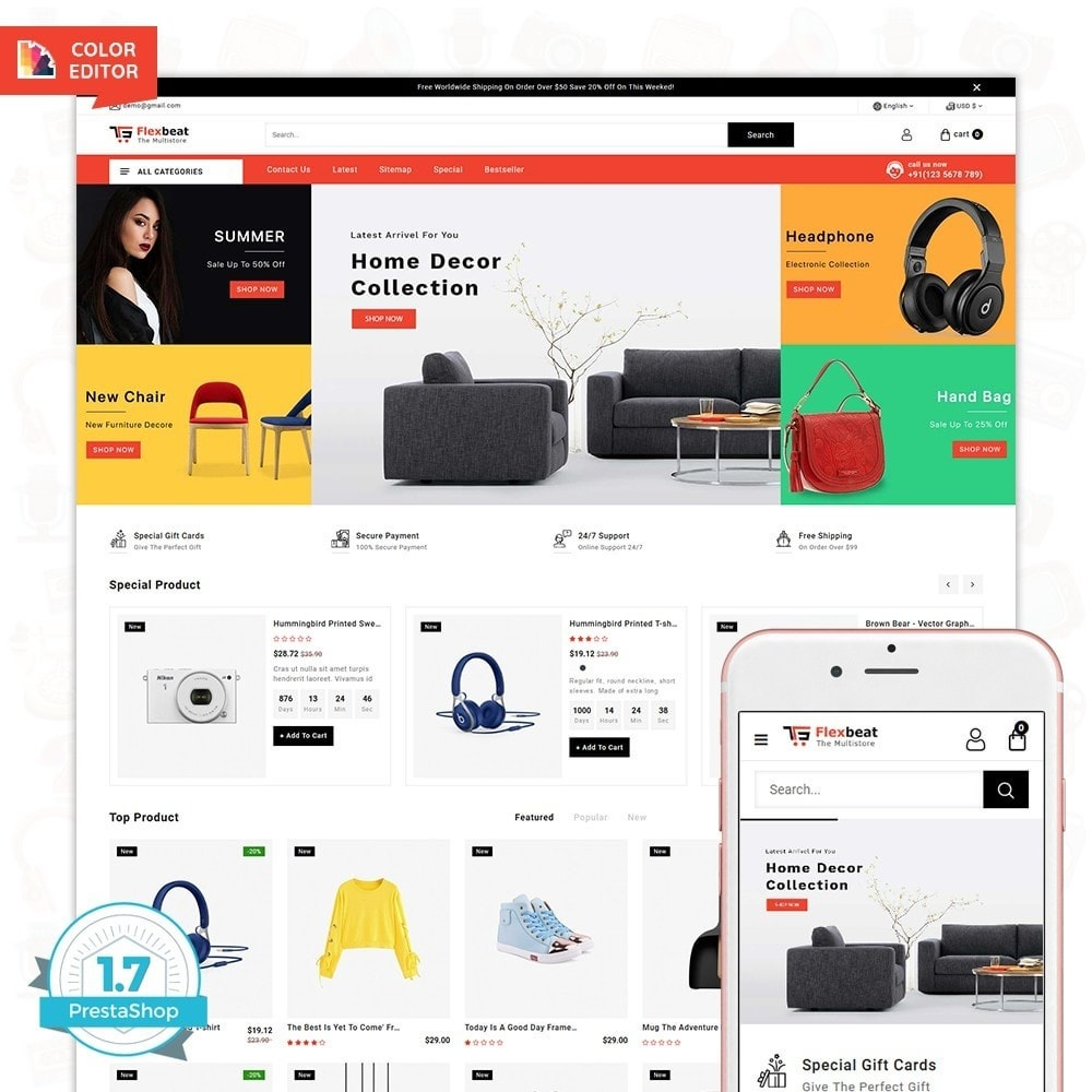 theme - Elettronica & High Tech - Flexbeat - The MUltiStore Theme - 1